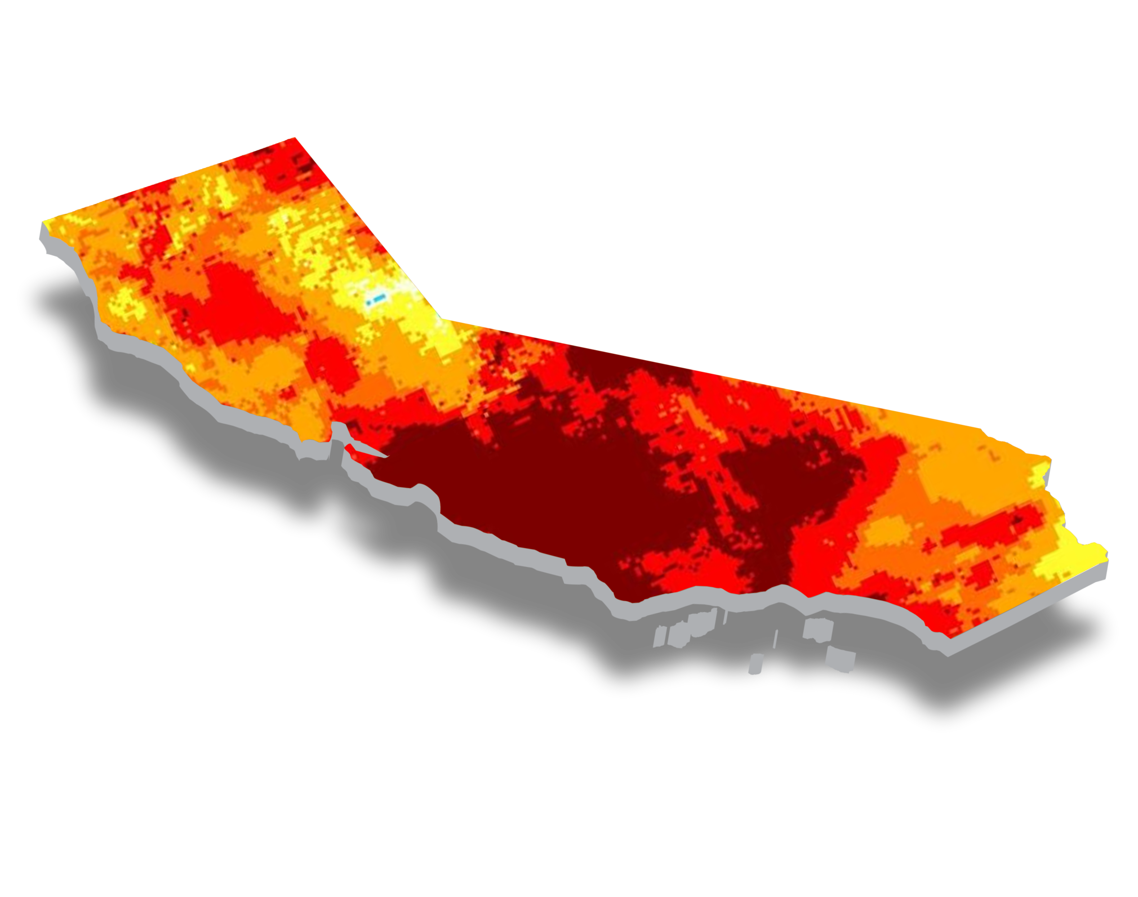 California Map - Impacted by heat